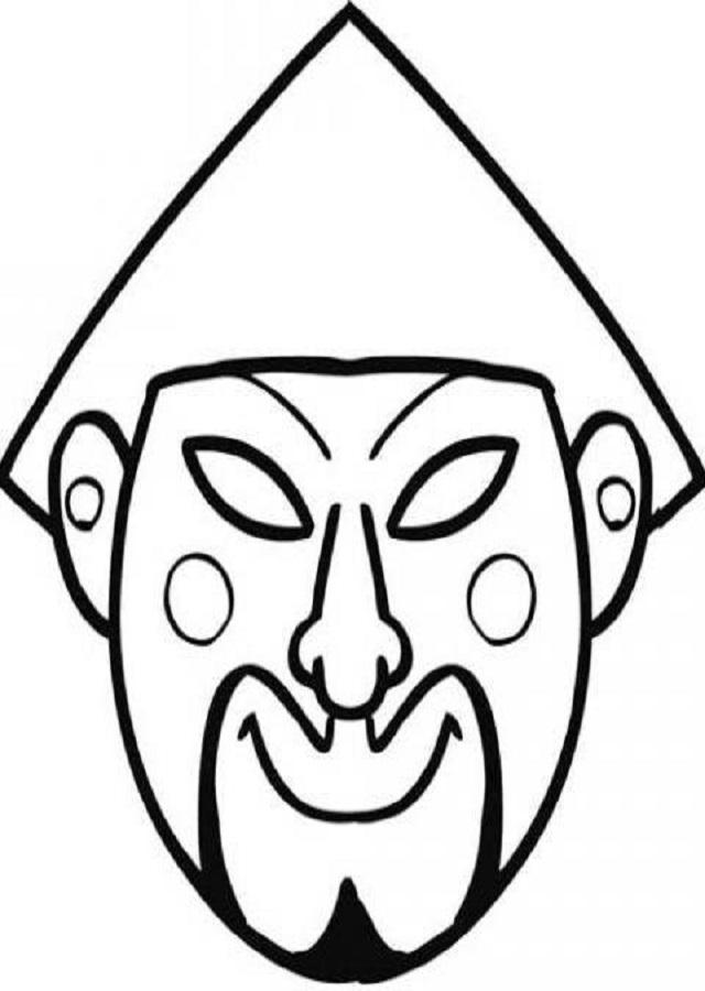 dibujos-carnaval-careta-de-chino