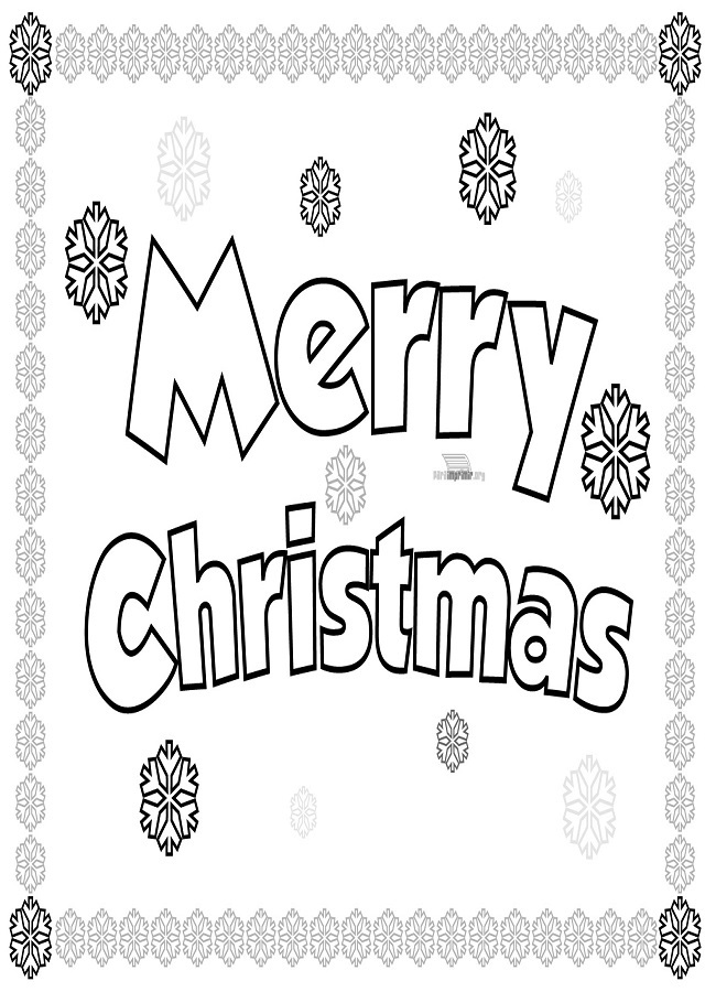 💠Dibujos para colorear Merry Christmas - Dibujos para colorear
