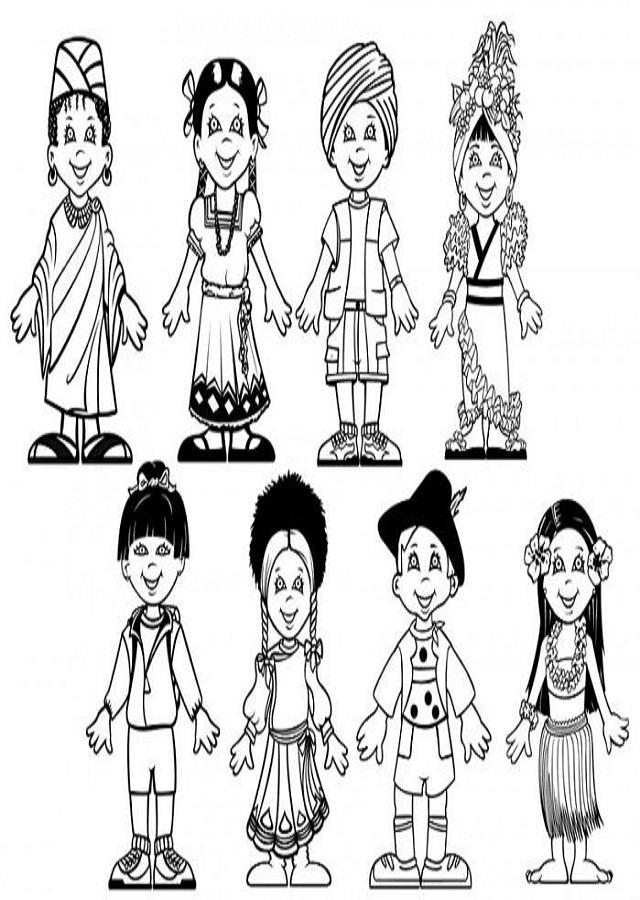 dibujos-para-colorear-variedad-de-culturas
