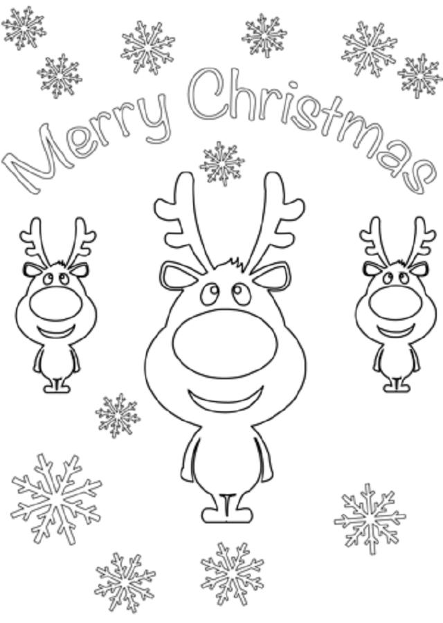 merry-christmas-dibujo-para-pintar - Dibujos para colorear