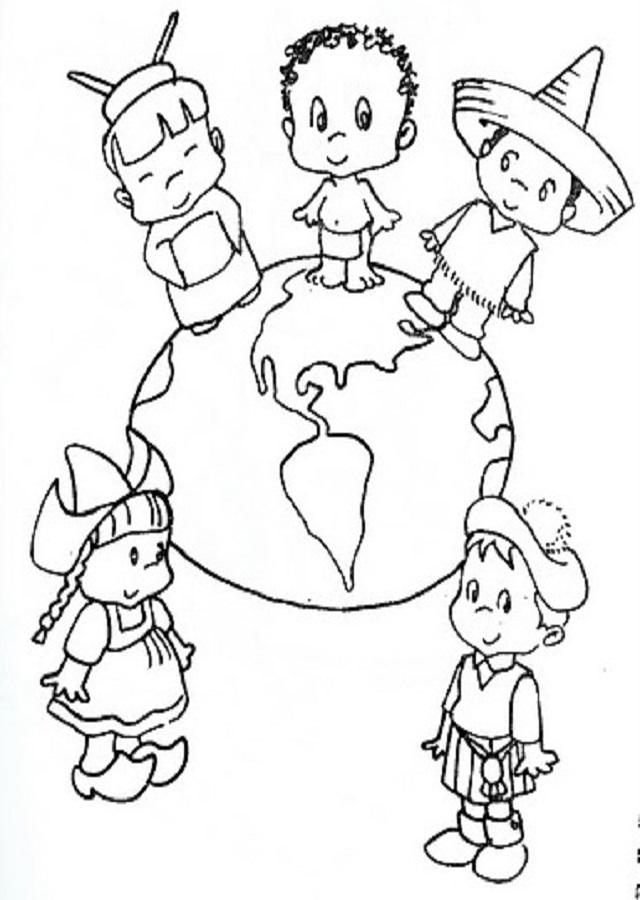 💠Dibujos para colorear variedad de culturas - Dibujos para colorear