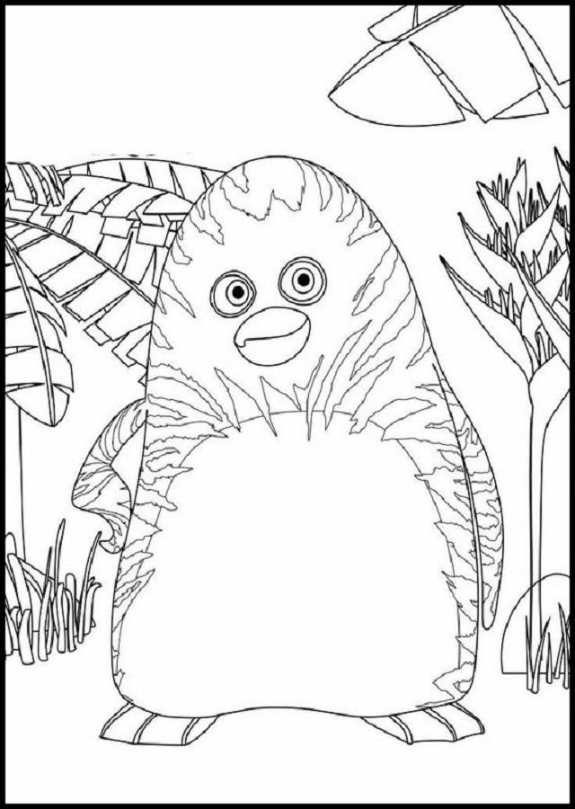 dibujos para pintar La panda de la selva - Dibujos para colorear