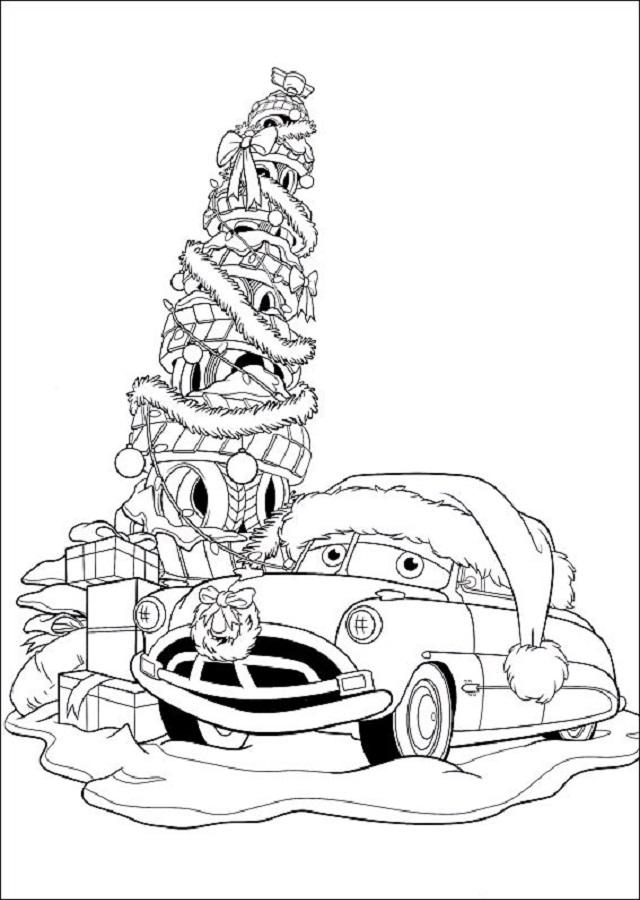 cars-navidad-colorear