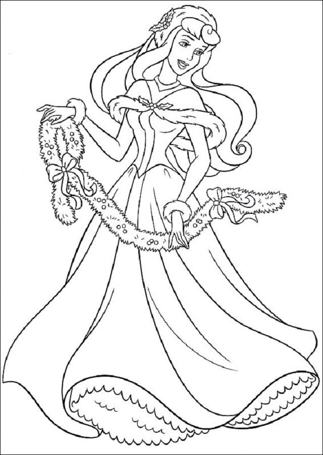 princesa-navidad-pintar