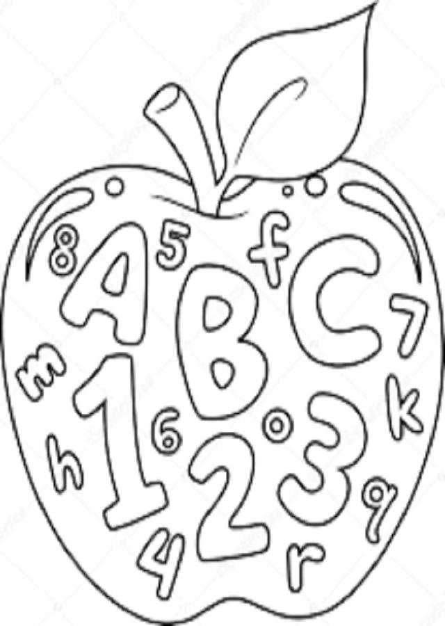 dibujos para colorear numeros y letras - Dibujos para colorear