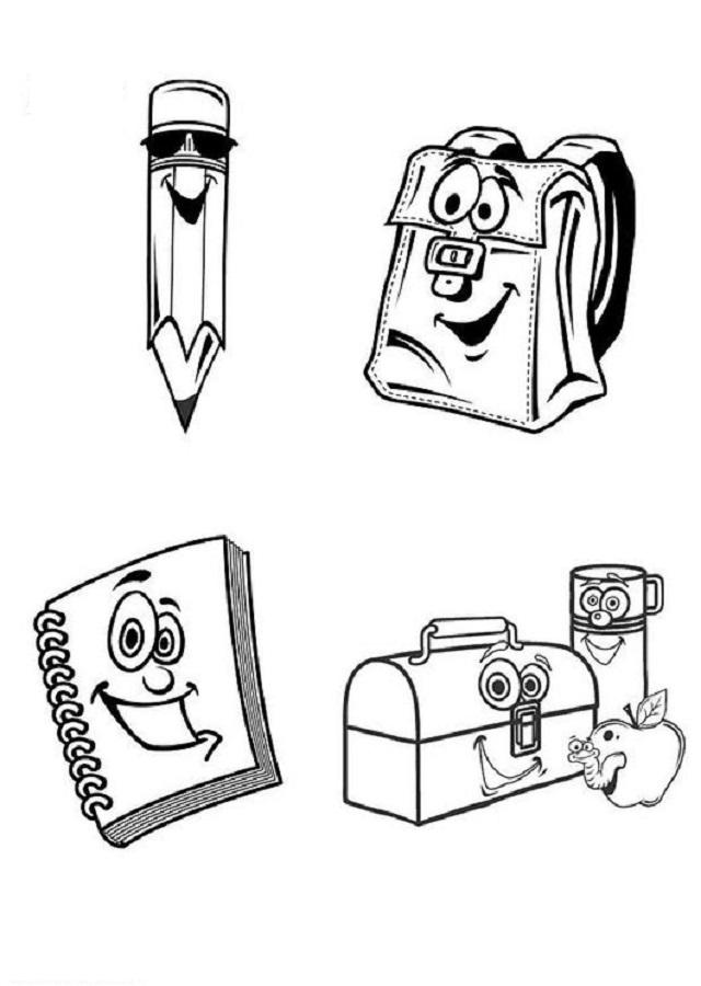 material-escolar-dibujos-para-pintar - Dibujos para colorear