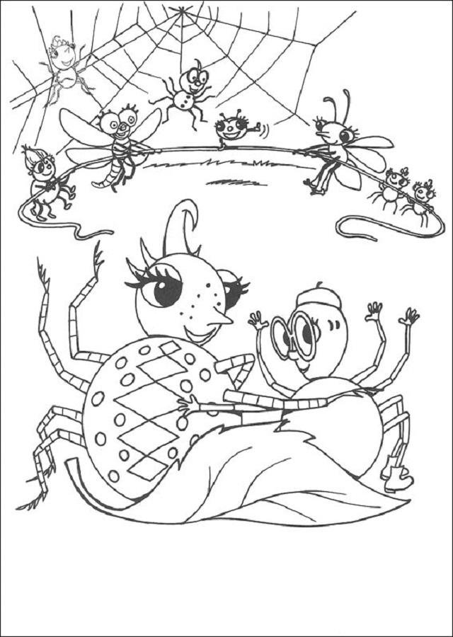 miss-spider-dibujos-para-colorear