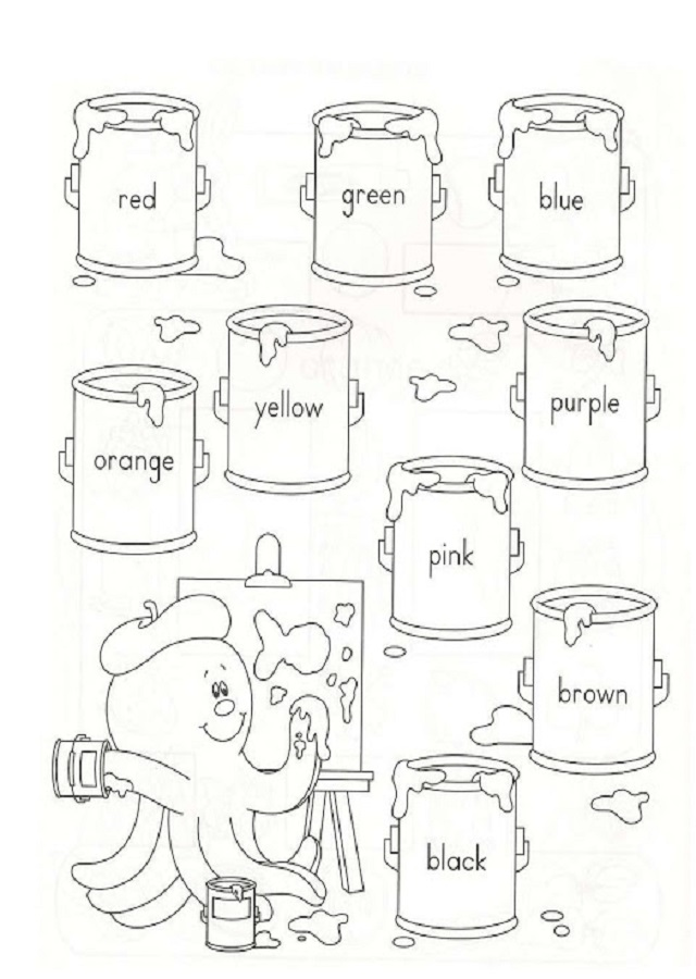Dibujos Los Colores En Ingles Dibujos Para Colorear