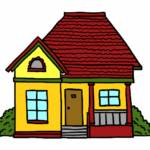Dibujos para colorear partes de una casa en ingles