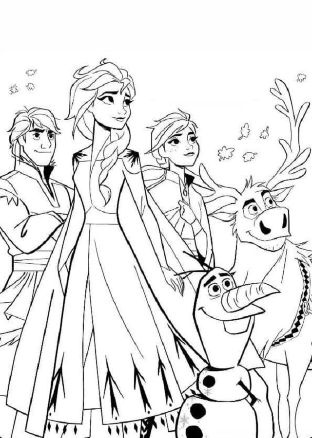 Dibujos Para Colorear Online Frozen