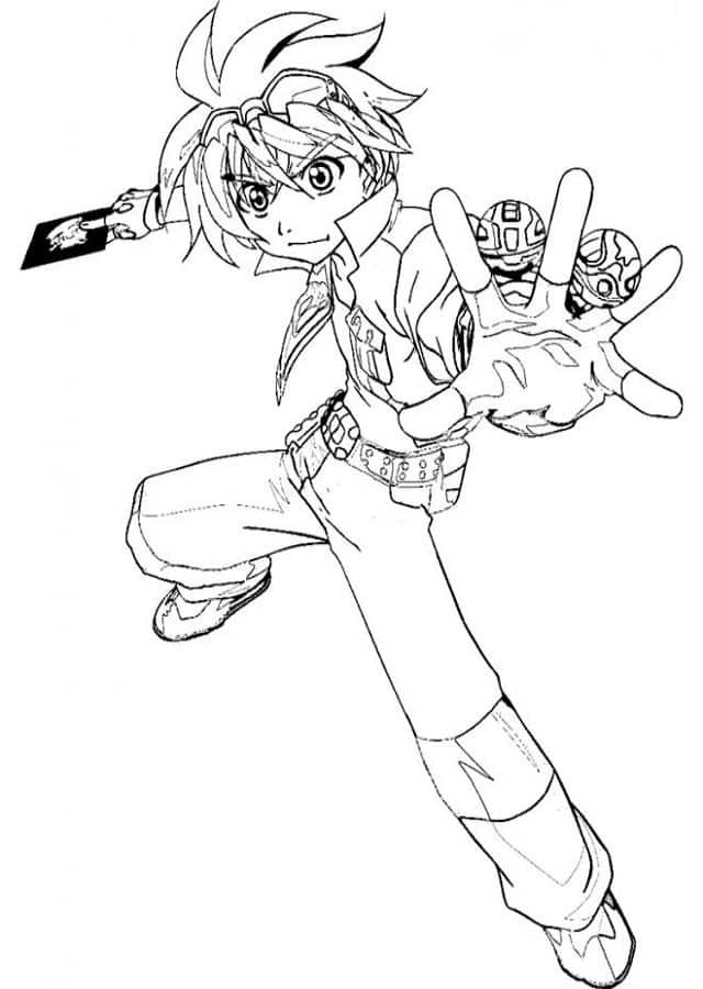 dibujos para pintar bakugan