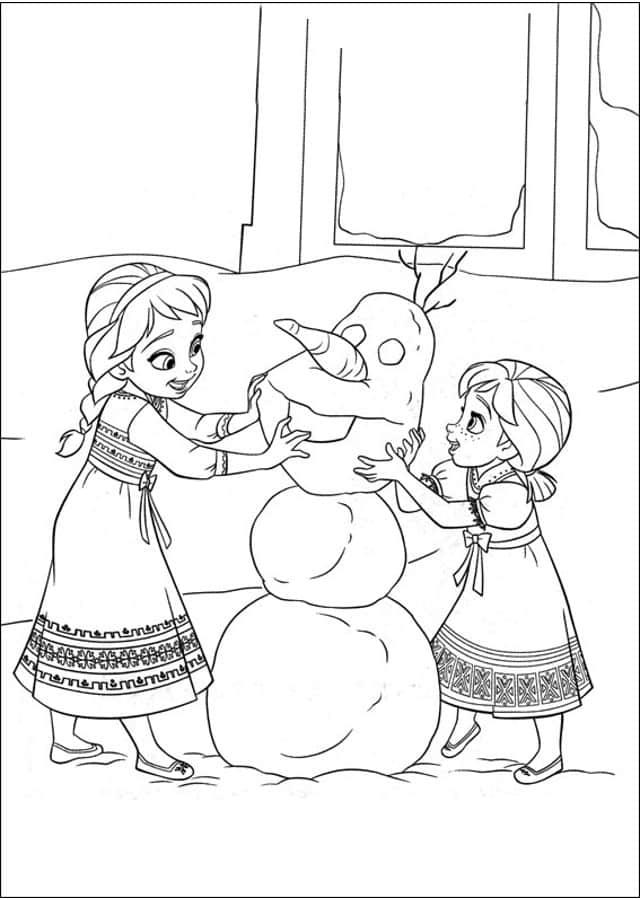 el-reino-del-hielo-haciendo-muñeco-de-nieve