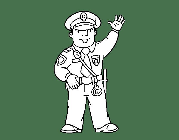 Policias para colorear
