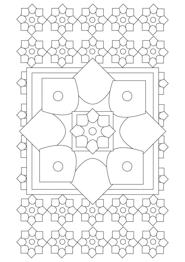 dibujo para colorear mandalas cuadrados