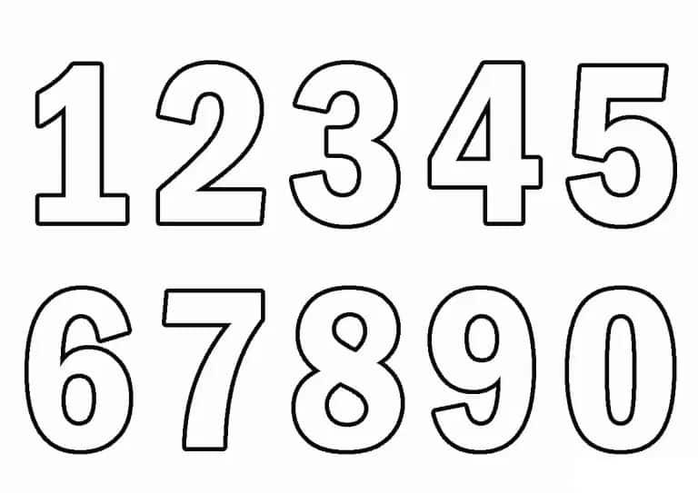 numeros sencillos del 1 al 9